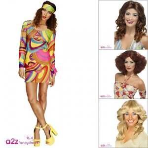 Ladies Girls Flower Child Maxi Dress Hippy Costume 60s /& 70s Plus Size UK 8-22