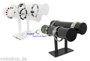 Schmuckständer Uhrenständer mit 2 Rollen für Uhren Armbänder Schmuck Acryl