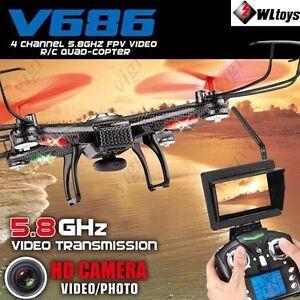 Jjrc Dv686 Dron Avec Caméra 2.0 Mp HD-drone 5.8 Ghz Wifi Fpv Moniteur Lcd 150m