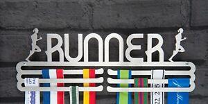 Female Runner Stainless Steel Medal Hanger Display