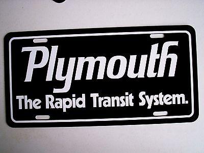 Chrysler Volare Emblem Aluminum License Plate