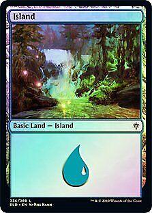 Island 256 FOIL Throne of Eldraine NM Basic Land MAGIC GATHERING CARD ABUGames