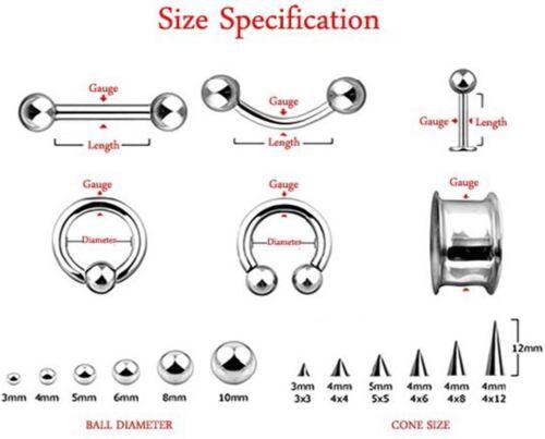 "Horseshoe Nipple Ear 14 Gauge 1//2/"" Front Facing Clear 5mm Gem Balls Gold Plate B"