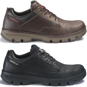 CAT-CATERPILLAR-Ajax-en-Cuir-Sneakers-Tous-les-Jours-Chaussures-Hommes-Nouveau