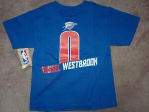 quality design b2365 4444f Details about NEW NBA Russel Westbrook Oklahoma City Thunder Jersey T Shirt  S 4 Boys Kids