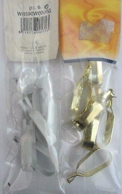 6pz Pinza Anello Pinzetta X Tenda Tende Ganci Accessori Colori Ottone Bianco New Per Vincere Una Grande Ammirazione