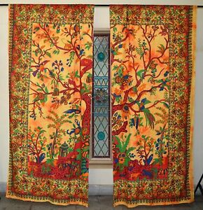 Bohemian Decor Window Panels Shades Hippie Curtains Door