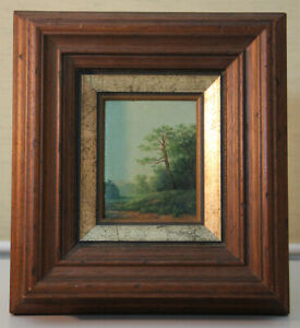 Small-Oil-Painting-Forest-Edge-Fine-Loupe-Painting-Colony