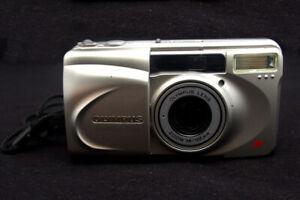Olympus-Superzoom-105G-38-105mm-EXC-Cond-Silver-Film-Camera