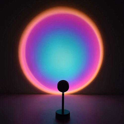 Sun Sunset LED Light Rainbow Projection Desk Lamp Home Decor USB Night Light New