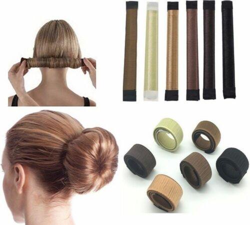 2pc Fashion Magic DIY Hair Styling Donut Former Foam French Twist Bun Maker Tool