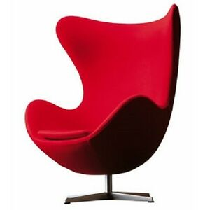 arne jacobsen egg chair in red pu leather 3008 ebay. Black Bedroom Furniture Sets. Home Design Ideas