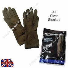 Matador Gloves Hairdressing Latex Re Usable Hair Salon Pairs of Gloves ALL SIZES