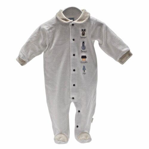 Designer Baby 1st Christmas All-in-One Velvet Babygrow Sleepsuit 0-3Mth Cambrass