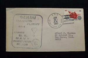 Naval-Espace-Housse-1965-Gemini-GT-4-Recuperation-Bateau-Uss-Chukawan-AO-100