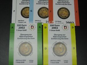 5-Munzschuber-For-the-Expenditure-a-D-F-G-And-J-Gold-2002-Monetary-Union
