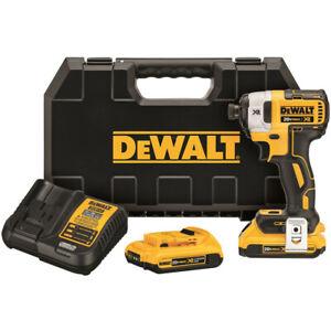 DEWALT-20V-MAX-XR-2-0-Ah-Li-Ion-1-4-in-Impact-Driver-Kit-DCF887D2-New
