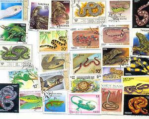 DernièRe Collection De Reptiles - 50 Toutes Différentes Collection De Timbres (un Ou Deux Tritons) Coloré.-l.fr-fr Afficher Le Titre D'origine