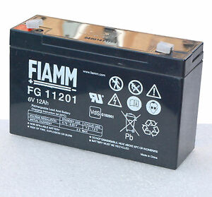 batteria per ups ups 6v 12a 12ah fg11201 fiamm 6 volt 12 amp ak2 ebay. Black Bedroom Furniture Sets. Home Design Ideas