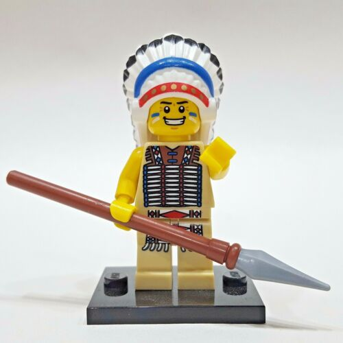 "LEGO Collectible Minifigure #8803 Series 3 /""TRIBAL CHIEF/"" Complete"