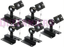 5 Pcs Set Heavy Duty Steel Adjustable Speaker Ceiling Wall Mount Brackets 33 lbs