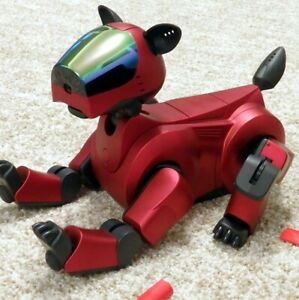 Sony-Aibo-Ers-210A-Holiday-Red-Super-Core-Robot-Dog-Roboter-Hund-boxed