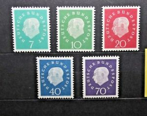 FRANCOBOLLI-GERMANIA-GERMANY-1959-034-THEODOR-HEUSS-034-NUOVO-MNH-SET-CAT-K