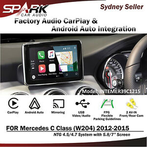 CARPLAY-ANDROID-AUTO-MIRROR-INTEGRATE-FOR-MERCEDES-C-CLASS-W204-5-8-7-034-2012-2015