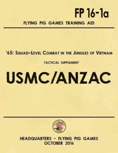United States Marine Corps And ANZAC Expansion NISW Flying Pig Wargame /'65