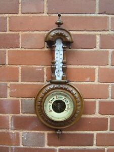 Barometer-vintage-Mahogany-made-plaque-S-B-C-C-mixed-doubles-1918-10-yrs-old-B2