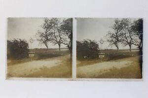 Francia Un Calvaire Foto Stereo P50L3n16 Placca Da Lente Vintage c1930