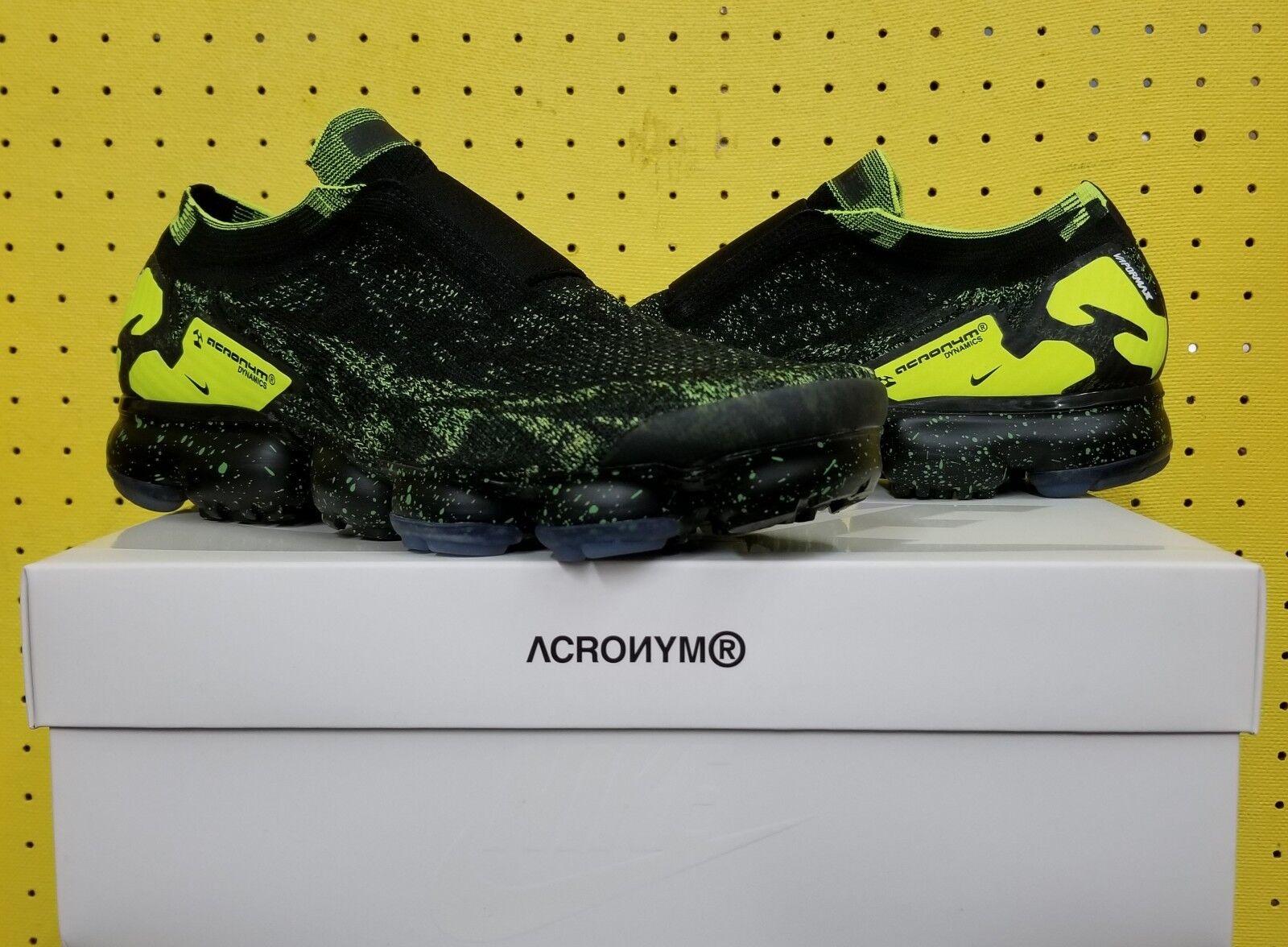 BRAND NEW Men's Nike Air Vapormax PK Moc 2 Acronym Sz 9.5 Black Volt AQ0996 007 New shoes for men and women, limited time discount