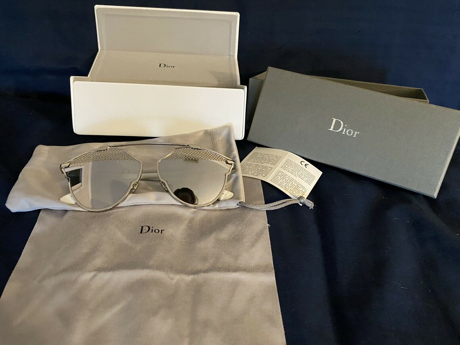 100% brand new authentic Dior SO REAL studded sunglasses silver mirror