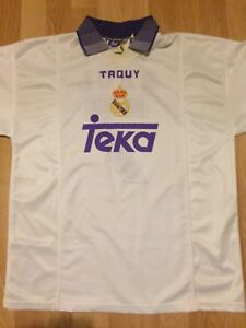 huge selection of 906fb be145 Details about REAL MADRID Retro / Vintage #7 RAUL Taquy shirt jersey Teka  Medium