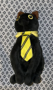 """Denis Daily SIR MEOWS A LOT 12"""" Black Cat Yellow Necktie ..."""
