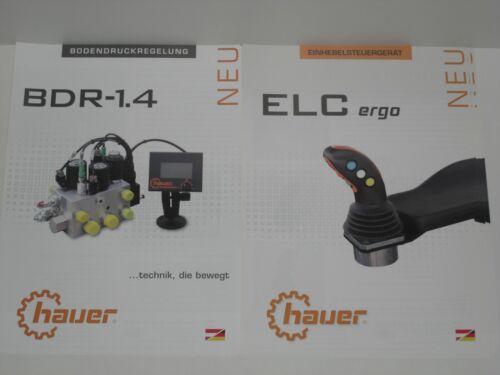 HAUER Einhebelsteuergerät ELC ergo 2750 Bodendruckregelung BDR Prospekte