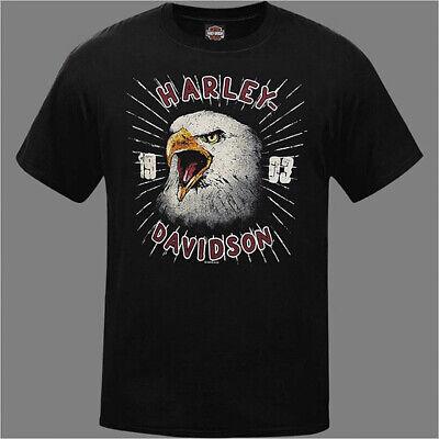 Harley-Davidson Men/'s Black 1903 Retro Eagle Short Sleeves T-Shirt R003318