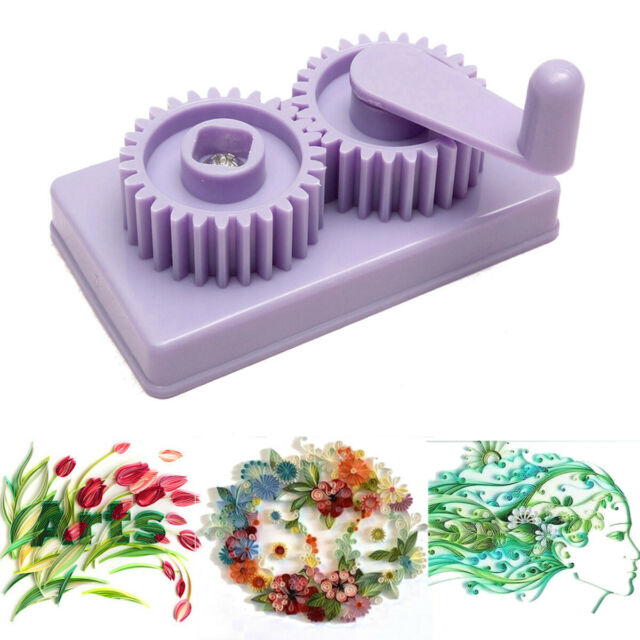 Plastic Paper Quilling Crimper Machine Crimping Paper Craft Quilled DIY Art Tool