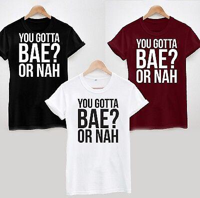 * You Gotta Bae or Nah? T-Shirt Top Magcon Vine Nash Grier Got A Bae Tee Tumblr
