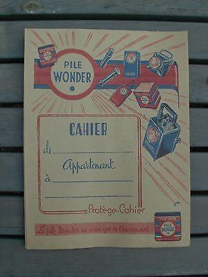 protege cahier pub ancien garage atelier piles ampoules wonder bande dessinée