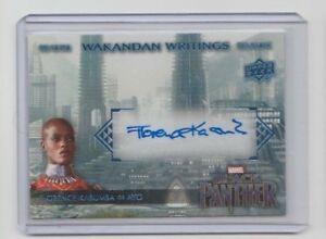 Marvel-Black-Panther-Autograph-Trading-Card-WW-FK-Florence-Kasumba-as-Ayo