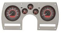 Dakota Digital 82-89 Chevy Camaro Analog Dash Gauges Carbon Red Vhx-82c-cam-c-r