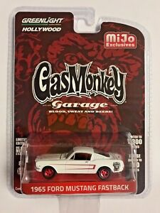 GREENLIGHT-51119-A-GAS-MONKEY-GARAGE-1965-FORD-MUSTANG-FASTBACK-1-64-WHITE