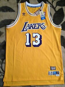 on sale 051e1 426e8 Details about Authentic Adidas LA Lakers Wilt Chamberlain 13 Hardwood  Classic Jersey Gold 3XL