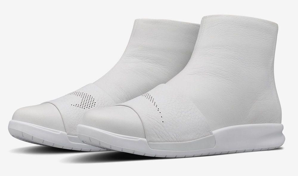 Women's NikeLAB Benassi Lux Boot White/White Sizes 6-10 New In Box 819683-100