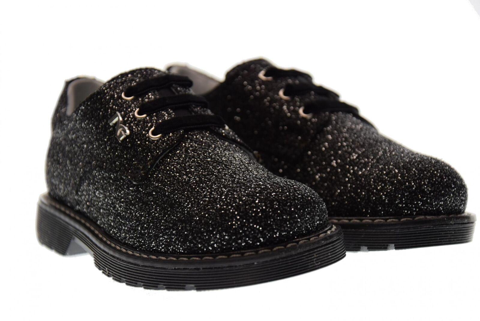 black Giardini A17f Junior shoes lacées A722550F   100 silver black (23 26)