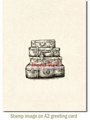 Deep Red Stamps Luggage Rubber Cling Stamp