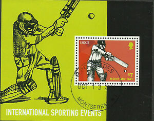 MONTSERRAT 2014 CRICKET International Sporting Events Souvenir Sheet CTO USED