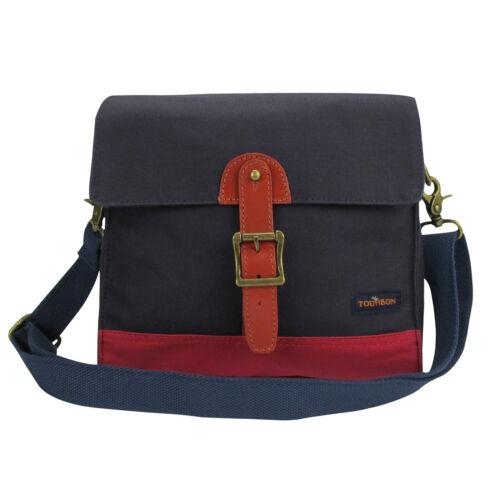 Tourbon Canvas Bike Bicycle Front Handlebar Bag Sling Shoulder Pannier Blue/&Red