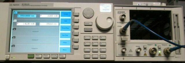 AGILENT 8164A Lightwave Measuring System TESTED for 816XX series modules BRIGHT!